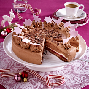weihnachtliche schoko sahne torte. Black Bedroom Furniture Sets. Home Design Ideas